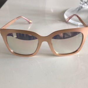 DIFF Ella Rose Gold + Rose Flash Lenses Sunglasses